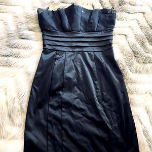 Bebe Strapless Black Cocktail Dress
